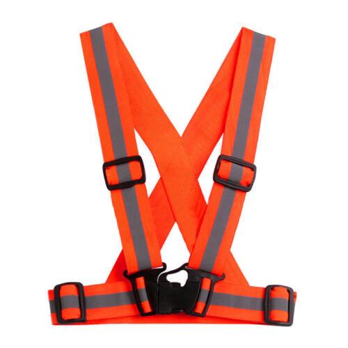 High Security Adjustable Kids Hi-vis Elastic Belt Vest Reflective Adults Safety