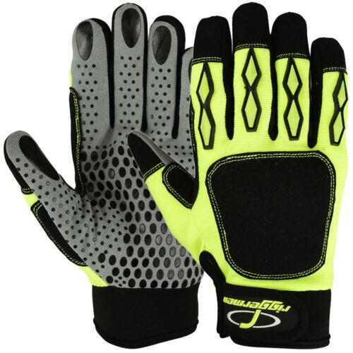 Riggermen Mechanics Gloves Safety Super Grip Impact Hi-Vis Amara Oil Resistant