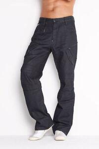 g star raw mens scuba 5620 loose jeans 28 x 32 bnwt brace denim raw blk blu ebay. Black Bedroom Furniture Sets. Home Design Ideas