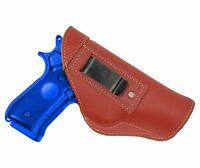 Barsony Burgundy Leather Iwb Gun Holster For Taurus Full Size 9mm 40 45