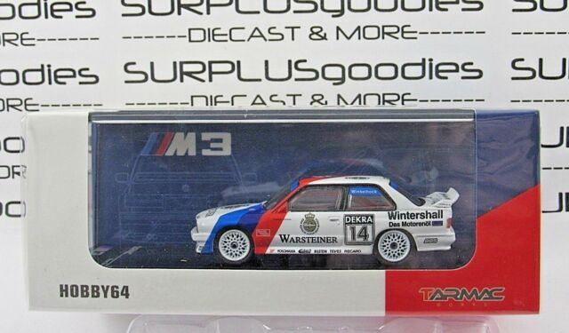 Tarmac Works 1:64 2018 Hobby64 BMW M3 E30 DTM 1992 Norisring Winner Warsteiner