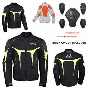 Impermeable-de-Motocicleta-Cordura-Chaqueta-Textil-Motociclista-Moto-Proteccion
