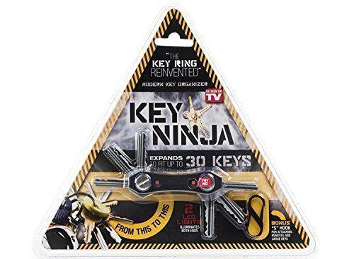Key Chain Smart Organizer Expandable Metal Holder Holds 30 Keys LED Flashlights