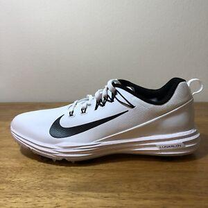 7c0cf76110a1 Nike Lunar Command 2(W) Golf Shoes - Wht Blk - Men s SZ 9(849969 ...