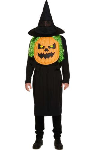 Mens Ladies Halloween Jumbo Witch Skeleton Pumpkin Vampire Fancy Dress Costumes