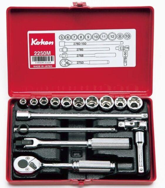 """Ko-ken Socket Set 40 Piece ½/"""" Dr 12PT AF//Metric 4239AM Koken"""