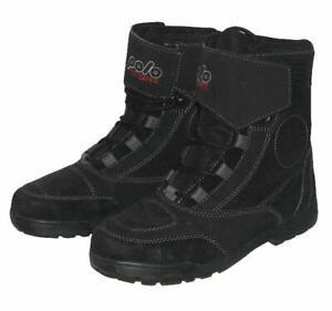 schoene-POLO-Damen-Schnuerstiefel-Biker-Boots-Stiefel-in-schwarz-Gr-39