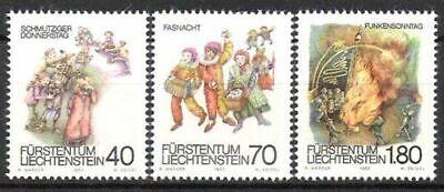 Postfrisch Begeistert Liechtenstein Nr 818/20 ** Fastnachtsbräuche 1983