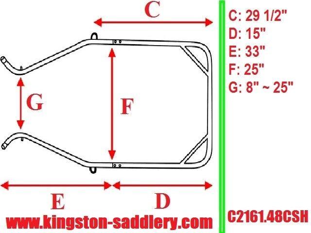 Mini O Pequeño Pony Ajustable 5 piezas curvadas del eje 48  Unidad-Nuevo En Caja