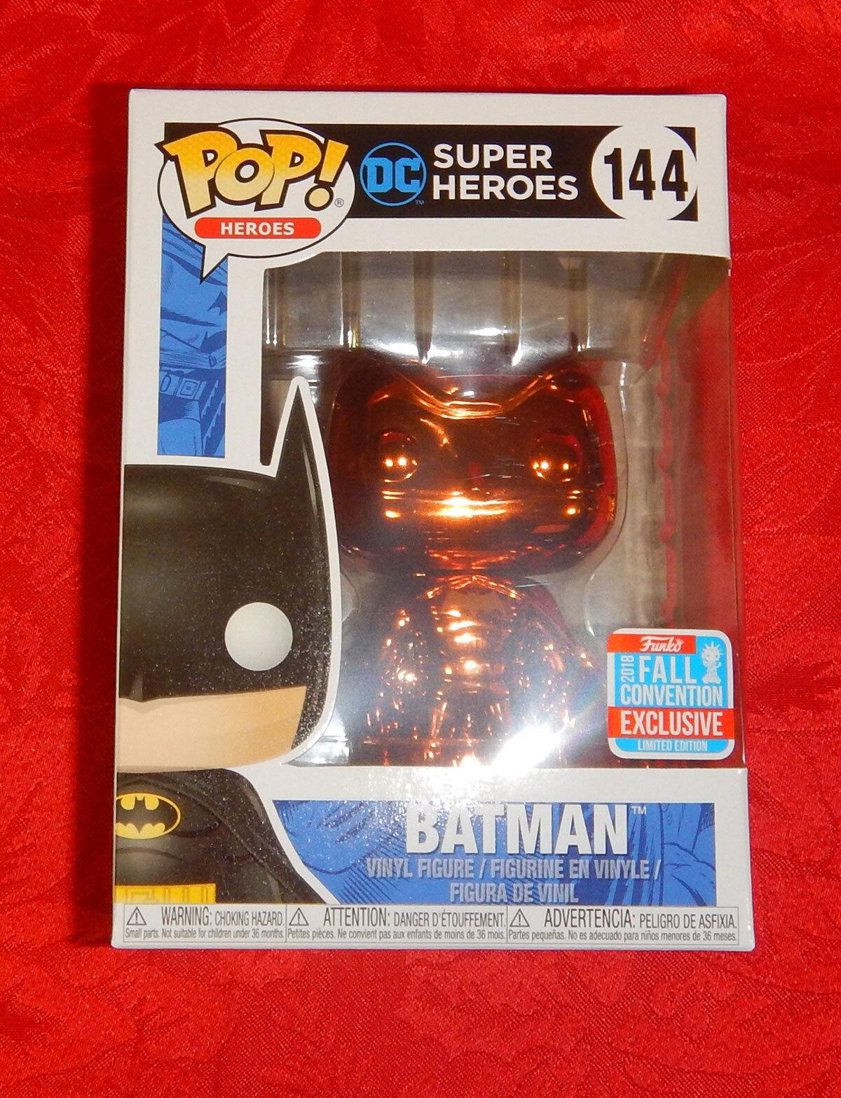 Pop Vinyl  NYCC 18 DC super hero Batuomo arancia Chrome  + prossoector  scelte con prezzo basso