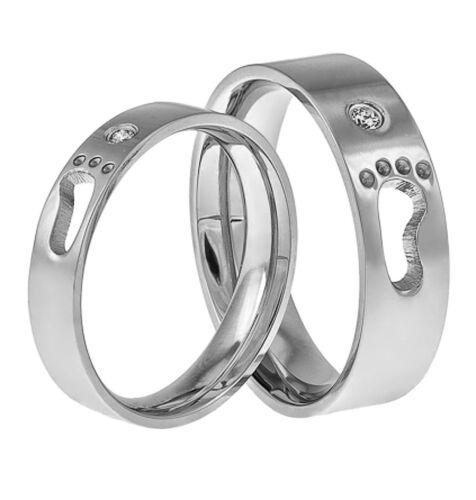 alianzas de acero inoxidable de amistad 2 anillos de pareja compromiso anillos de amistad amor anillo