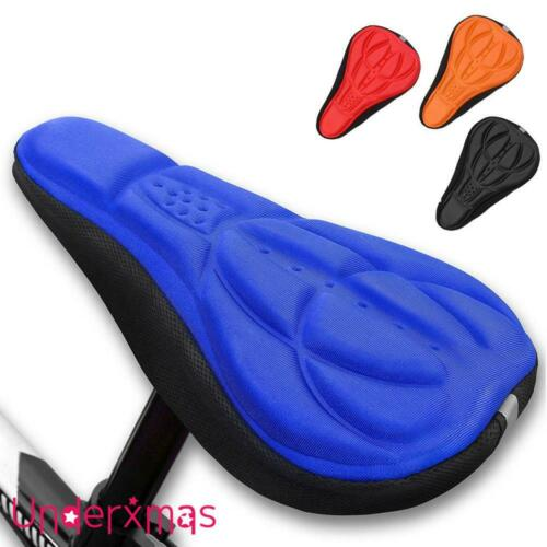 Cycling Bike Bicycle Extra Comfort Silicone Seat Saddle Cover Pad Gel Cushion