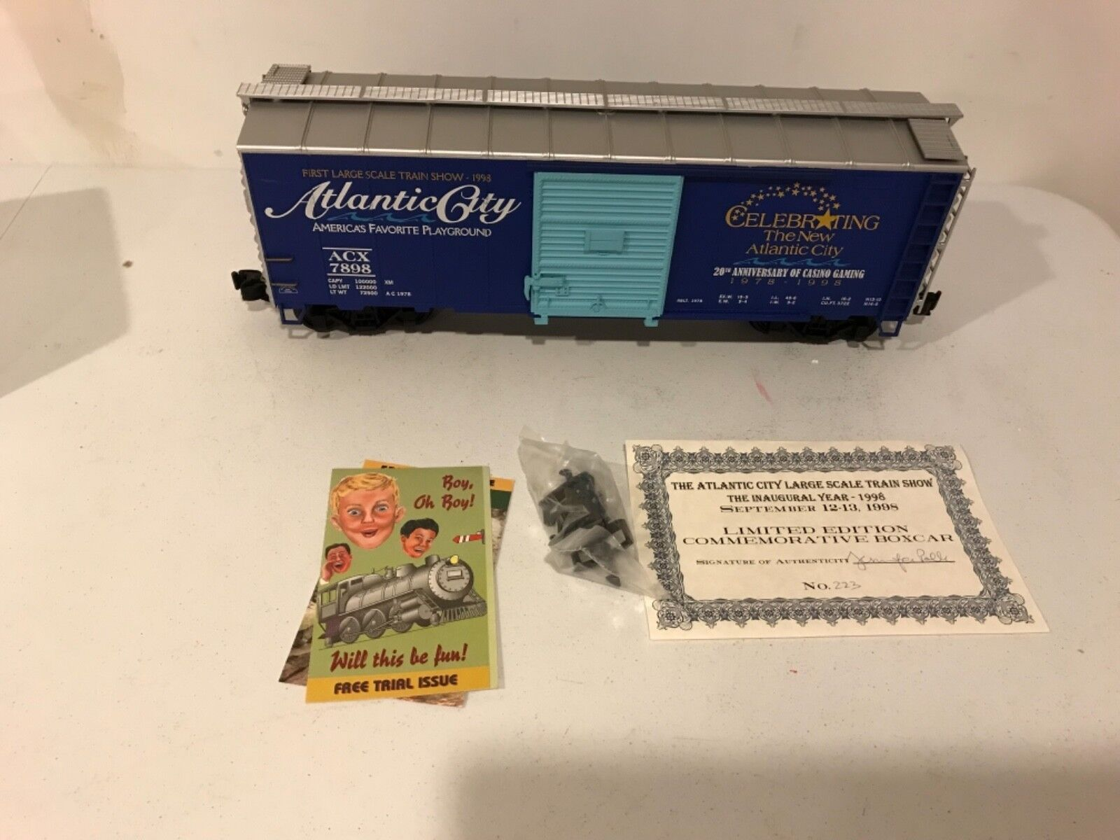 Aristocraft ART-46095 Limited Edition Atlantic City 1998 Train Show Steel Boxcar