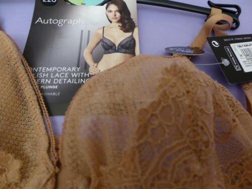 Marks /& Spencer Autograph new terracotta non-padded longline plunge bra