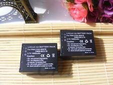 Two Battery For Panasonic Lumix DMC-TZ3,DMC-TZ2 Series CGA-S007,CGA-S007A/1B,