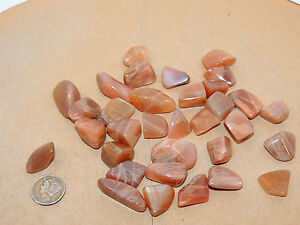 Peach Moonstone Tumbled Stones 1/4 pound (12041) | eBay