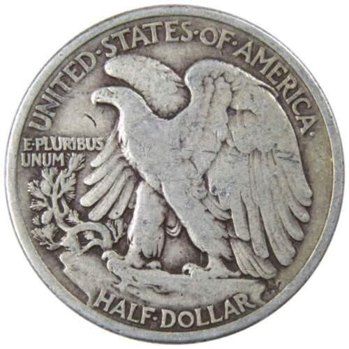 1936 50c Liberty Walking Silver Half Dollar US Coin VG Very Good