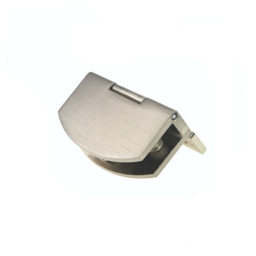 1//2 pcs Zinc Alloy Glass Hinge Cupboard Showcase Cabinet Door Hinge Glass Clamp
