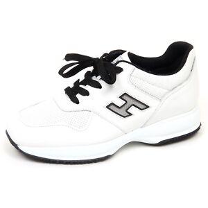 Image is loading E9754-sneaker-uomo-white-black-HOGAN-INTERACTIVE-scarpe- ea04cfcc1c7