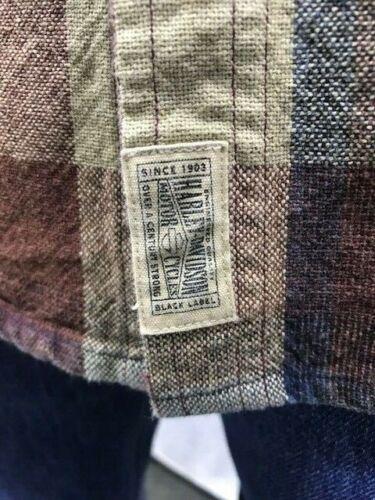 Harley Davidson Men/'s Acid Wash Plaid Shirt