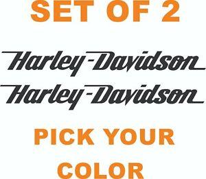 "Harley Davidson sticker vinyl decal 12"" x 1.5"" set of 2 (pick your color)"