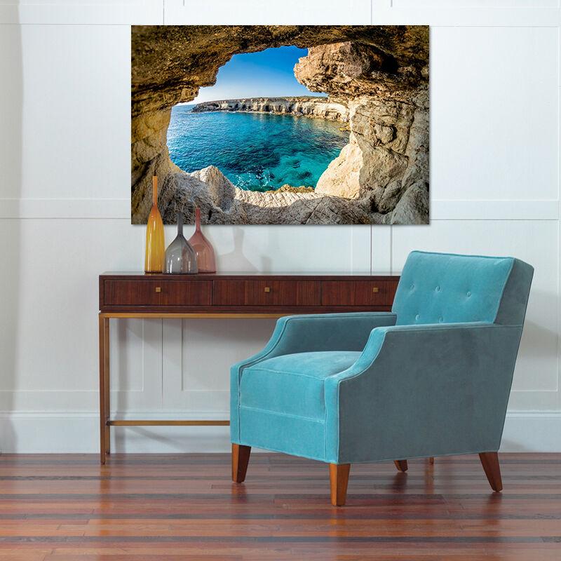 3D Höhle Blauer Himmel Meer 856 Fototapeten Wandbild BildTapete AJSTORE DE Lemon