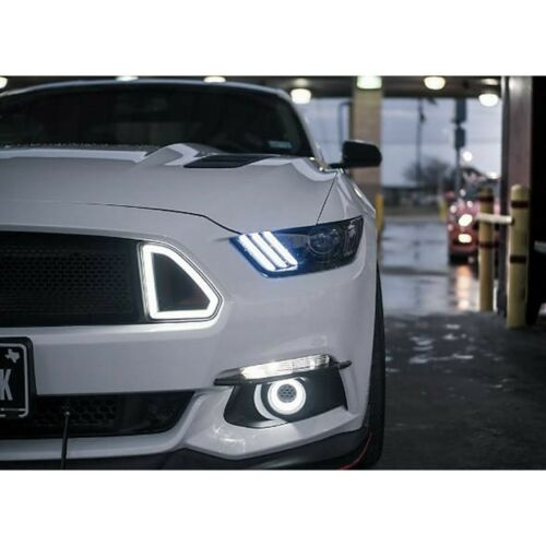 2015-2017 Ford Mustang RGBW LED Multi-Color Changing Headlight DRL /& Controller