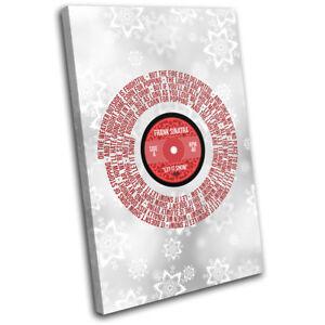 Let It Snow Lyrics Sinatra Christmas SINGLE CANVAS WALL ART Picture Print | eBay
