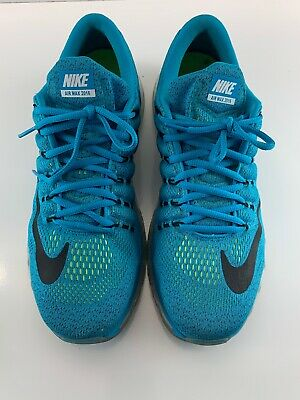Isaac Regularmente Yo  Nike Air Max 2016 Mens Running Shoes 11.5 Blue Lagoon Black Brave ...