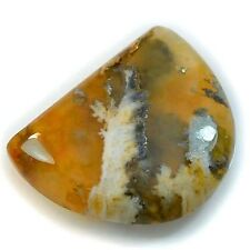 22Ct Natural Priday Moss Agate (23mm X 18mm) Cabochon