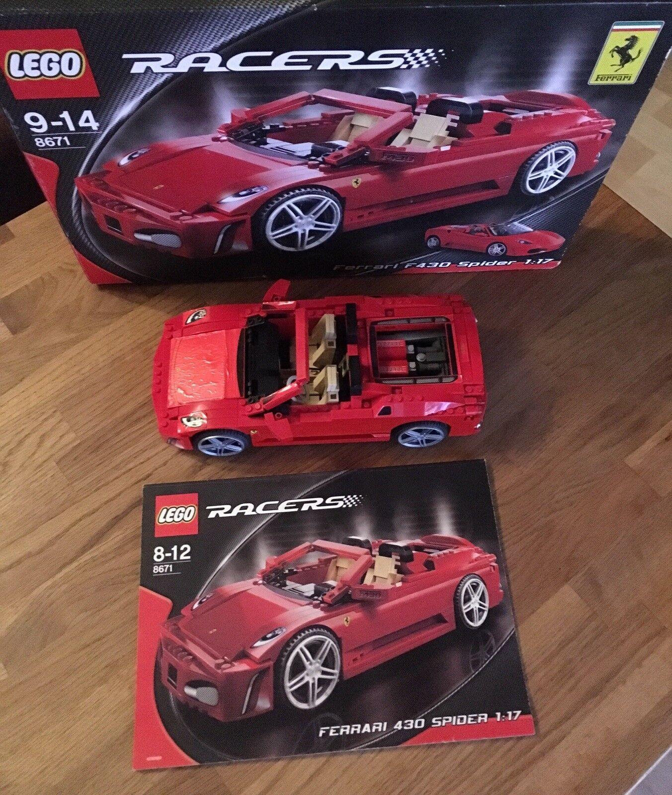Lego Technic Technique Racers 8671 Ferrari f430 spider   assurance qualité