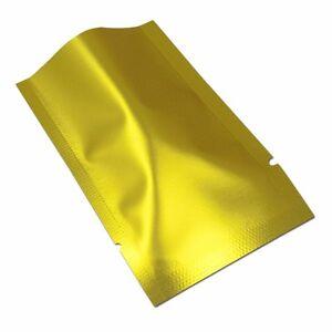 50-100X Glossy Purple Aluminum Foil Bag Food Sealable Mylar Package Pack Vacuum