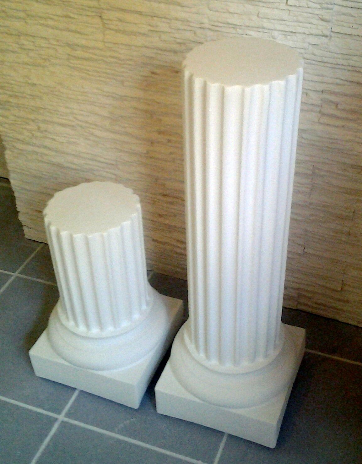 Colonne tronquée en STAFF (plâtre renforcé de fibres)support vase ou objet déco