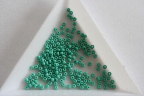 Opaque Aqua Preciosa Seed Beads Size 11 2mm 800 beads approx #7960