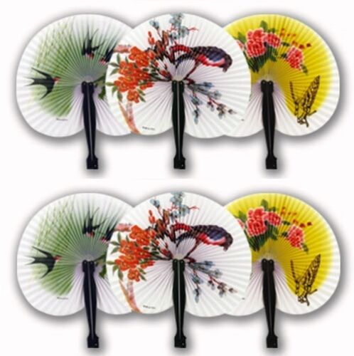 Paper Chinese Folding Fans Party Bag Filler Wedding Fancy Dress New