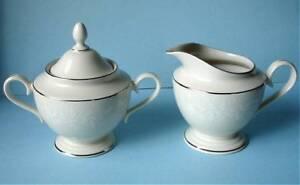 Lenox-Linen-Rose-Sugar-Bowl-amp-Creamer-Made-In-The-USA-NEW