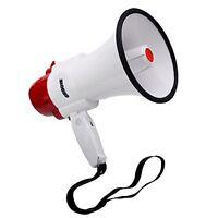 Handheld Megaphone Portable Bullhorn Voice Amplifier Siren Cheering Speaker loud
