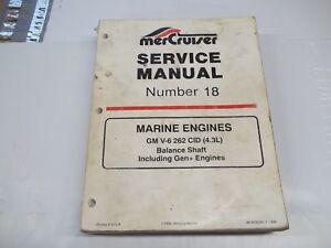 mercury mercruiser service manual 18 gm v6 engine 262 cid 4 3l ebay rh ebay co uk 1984 mercruiser 260 service manual pdf Mercruiser Parts