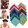 100% Cotton Dacron Paisley Bandanas Double Sided Head Wrap Scarf  Unisex Hiphop