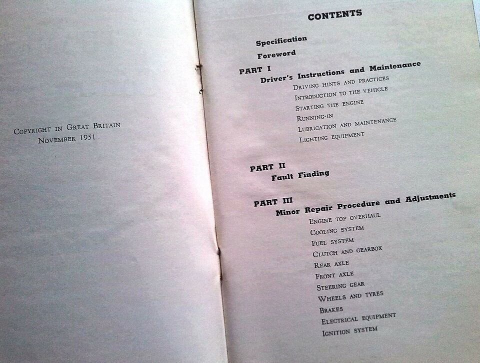 Instruktions bog , 1951 Thames