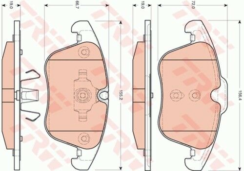 garnitures avant ø355 JAGUAR XF Sport Brake 3884223 TRW Disques de frein