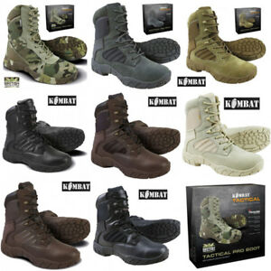 MENS SIZE 3 4 5 6 7 8 9 10 11 12 WATERPROOF COMBAT ARMY MOD BLACK LEATHER BOOTS