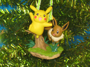 Pikachu Christmas Ornament.Details About Pokemon Pikachu With Eevee Figurine Christmas Ornament