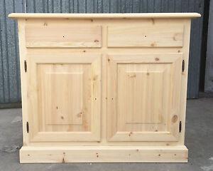 Credenza Abete Fai Da Te : Credenza grezza in legno abete naturale made italy stile