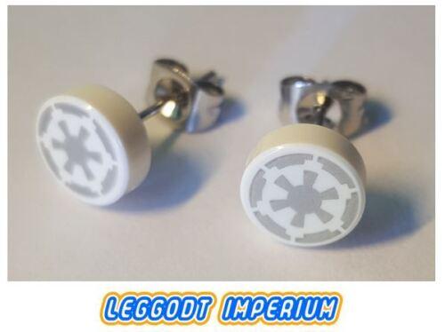 Star Wars Imperial logo pattern FREE POST LEGO Custom Stud Earrings