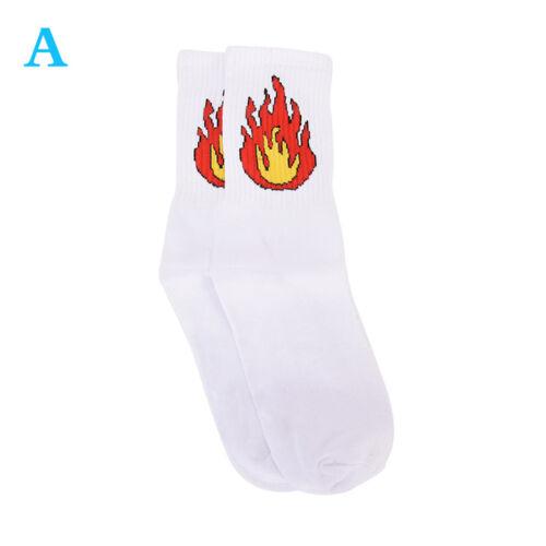80/%Cotton Patterned Design Flame Bomb Baseball Harajuku Cool Socks HipHop CKL