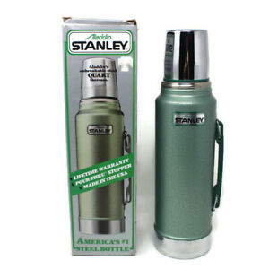 Aladdin-Stanley-Steel-Quart-Thermos-Unbreakable-A944DH-New-Vintage-NOS