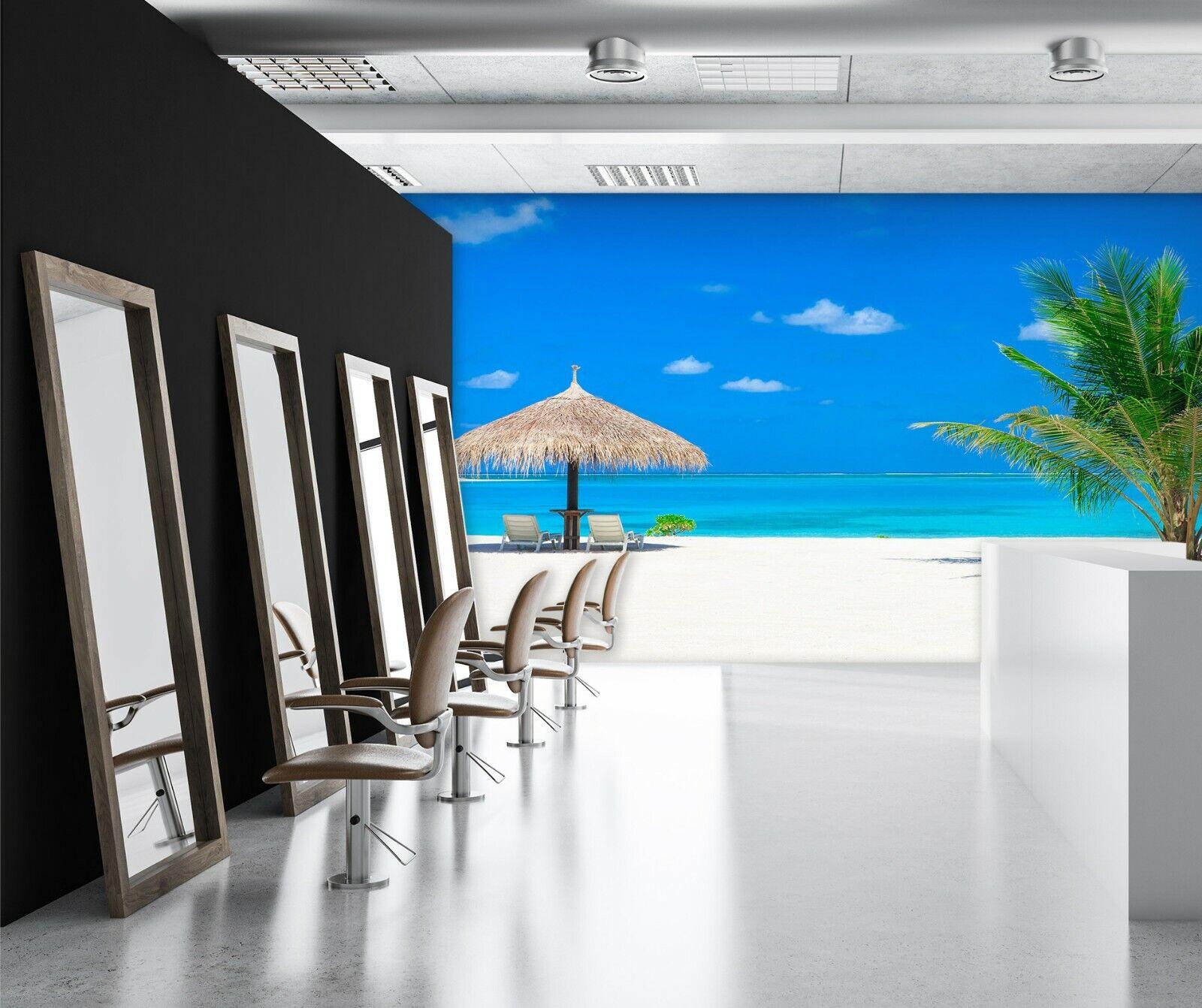 3D Strand Blauen Himmel H204 Geschäft Tapete Wandgemälde Selbstklebend Handel An