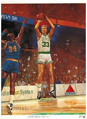 Larry Bird Boston Connection Restaurant Menu /& Placemat Celtics Basketball