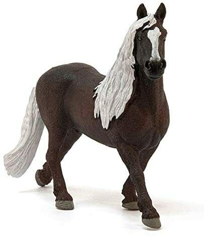 SCHLEICH 13897 personaggio del gioco Nero foreste Stallone Farm World unascuderiailfieno cavallo NUOVO NEW